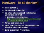 hardware ia 64 itanium