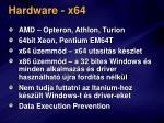 hardware x64
