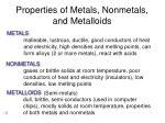 properties of metals nonmetals and metalloids