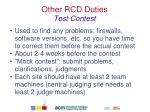 other rcd duties test contest