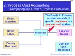 2 process cost accounting comparing job order process production1