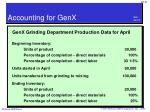 accounting for genx1