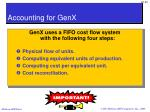 accounting for genx3