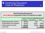 computing equivalent units of production