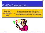 cost per equivalent unit