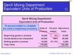 genx mixing department equivalent units of production1
