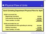 physical flow of units