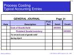 process costing typical accounting entries10