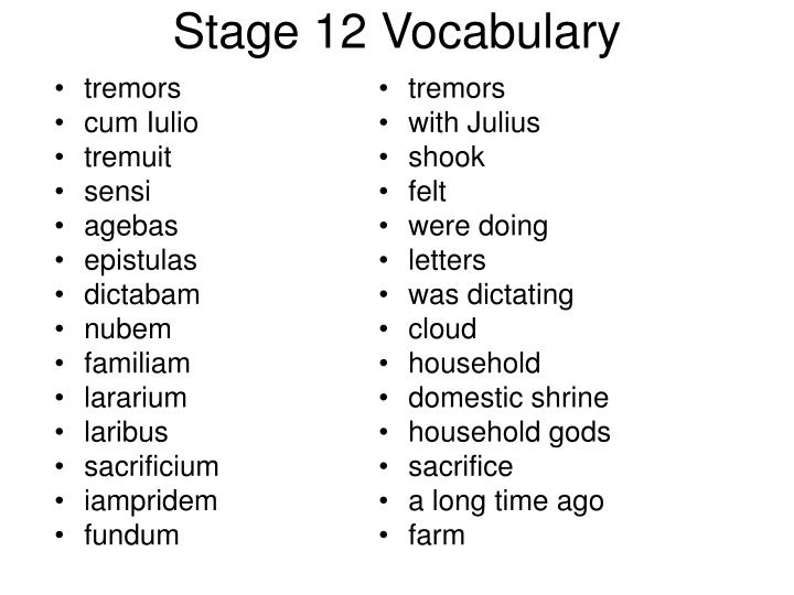 stage 12 vocabulary n.
