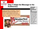 step 4 adapt the message to the audience s
