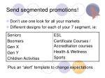 send segmented promotions