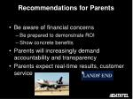 recommendations for parents2