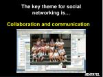 the key theme for social networking is