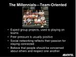 the millennials team oriented