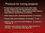 protocol for tuning projects