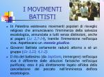 i movimenti battisti
