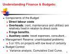 understanding finance budgets