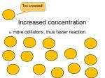 increased concentration