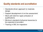 quality standards and accreditation