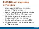 staff skills and professional development
