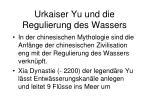 urkaiser yu und die regulierung des wassers