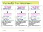 data nodes svxhit containers