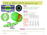 vtx in pisa svx detector set