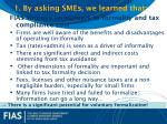 1 by asking smes we learned that