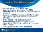 and on tax administration