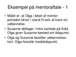 eksempel p mentoraftale 1
