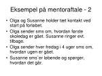 eksempel p mentoraftale 2