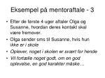 eksempel p mentoraftale 3