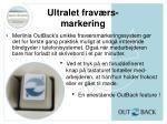 ultralet frav rs markering