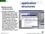 application structures