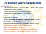 additional funding opportunities