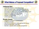 what makes a proposal competitive