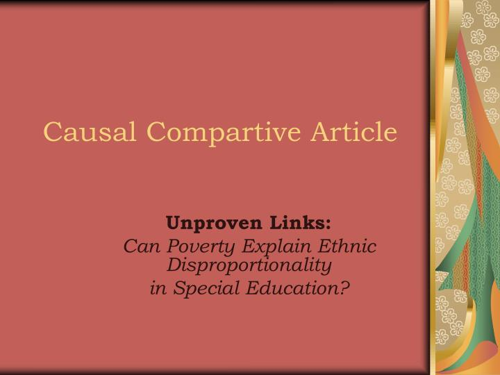 causal compartive article n.