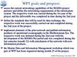 wp5 goals and progress