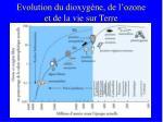 evolution du dioxyg ne de l ozone et de la vie sur terre