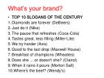 what s your brand