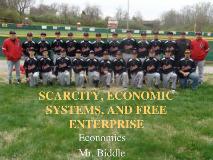 scarcity economic systems and free enterprise n.