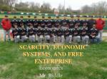 scarcity economic systems and free enterprise