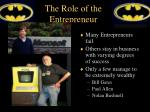 the role of the entrepreneur1