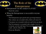 the role of the entrepreneur2