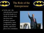 the role of the entrepreneur4
