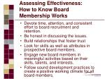 assessing effectiveness how to know board membership works
