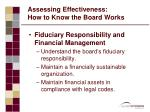 assessing effectiveness how to know the board works1