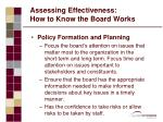 assessing effectiveness how to know the board works2