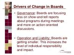 drivers of change in boards1