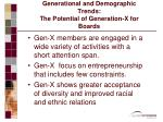 generational and demographic trends the potential of generation x for boards